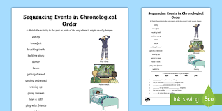 an example of chronological order sequence events in chronological order 2014 page 1