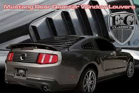 mustang rear louvers ford mustang base gt model abs molded rear qtr unpainted