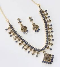 blue sapphire necklace set images Necklace set beautiful blue sapphire stone studded necklace set jpg