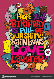 vector illustration of doodle handwritten lettering happy