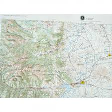 Wyoming Zip Code Map by Cody Raised Relief Map From Onlyglobes Com