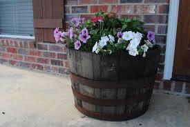 large whiskey barrel planters u2014 new decoration how to plant