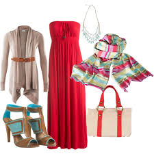 how to wear a maxi dress colorful scarf long belted card