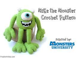 crochet mike wazowski monster university monsters free