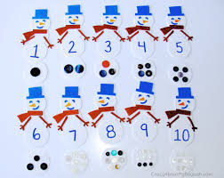 snowman counting and matching winter craft for kids 1024x814 25