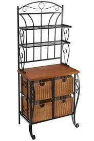 Bakers Racks For Kitchens 20 Ideas With Kitchen Bakers Rack Manificent Amazing Interior