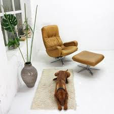 swivel chair with ottoman ds 50 swivel chair with ottoman edited by de sede 1960s