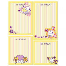 personalized stationary snoopy personalized stationery memo set colorful images
