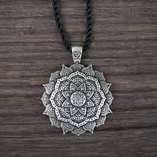 boho pendant necklace images Lotus mandala pendant necklace boho fairy jpg