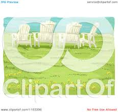 Chairs On A Beach Cartoon Of Adirondack Chairs On A Bluff Over A Beach Royalty
