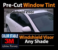 3m color stable precut windshield visor tint strip film fit for