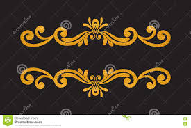 Luxurious Decorative Element Elegant Luxury Vintage Gold Floral Border Stock Vector Image