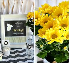 yellow and grey baby shower decorations gray yellow baby shower decorating ideas of family home