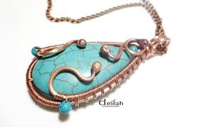 pendant wire necklace images Wire wrap turquoise pendant copper concept wire jewelry jpg