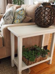 Narrow Accent Table by The Quaint Cottage Aged Finish Narrow Diy End Table