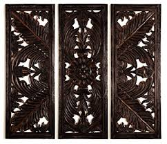 carved wood wall set 3 carving wood wall decor sculpture 70w