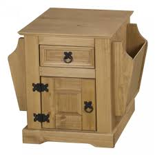 Accent Table With Drawer with Furniture Beautiful Oak Magazine Rack Table Image Gallery Hcp