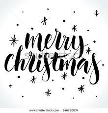merry christmas modern merry christmas background modern calligraphy hand stock vector