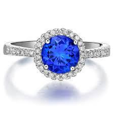 sapphire halo engagement rings beautiful 1 carat blue sapphire and halo engagement