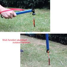 Awning Pegs Outdoor Hiking Camping Tent Tarp Awning Peg Mallet Hammer Puller