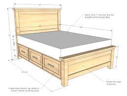 bed frames fabulous ana white build farmhouse storage with