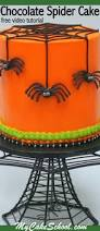 Halloween Chocolate Cake Recipe Chocolate Spiders Free Halloween Cake Video My Cake