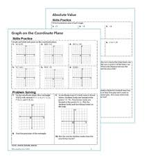 u0026 coordinate plane homework worksheets skills practice u0026 word