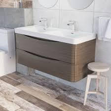 Double Basin Vanity Units For Bathroom by Erin Wall Mounted 1200 Double Basin Vanity Unit U0026 Composite Resin
