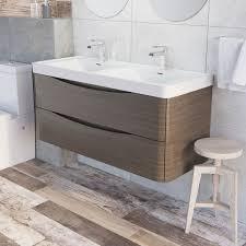 erin wall mounted 1200 double basin vanity unit u0026 composite resin