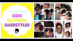 natural hair styles for 1 year olds 4 styles 1 base kids natural hairstyles iamawog youtube