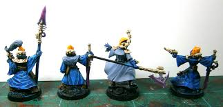 mordian 7th regiment eldar not exactly batch painting but still