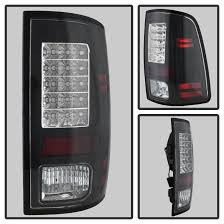 2014 ram 1500 tail lights 2013 17 dodge ram truck factory led model led tail lights black