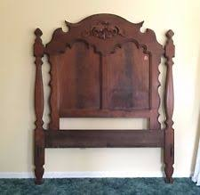 dark wood tone antique beds u0026 bedroom sets 1950 now ebay