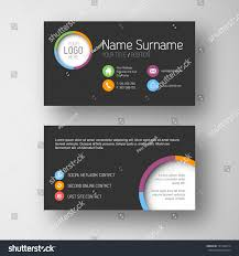 Online Business Card Templates Modern Simple Dark Business Card Template Stock Vector 181720214