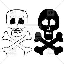 human skull cross bones royalty free vector clip image 119062
