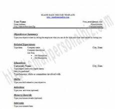 printable exles of resumes free printable blank resume templates in word for students or