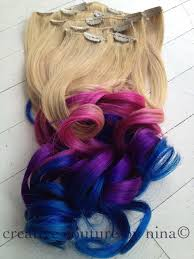 Purple Remy Hair Extensions by Ombre Hair Tie Dye Hair Blonde Hair Extensions Pink Ombre Purple