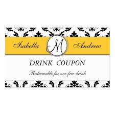 free drink ticket business card templates bizcardstudio