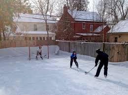 backyard hockey rinks range from simple to elaborate midland