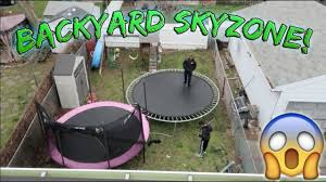 backyard trampoline park epic roof jump youtube