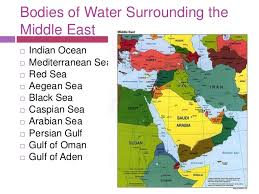 middle east map water bodies nov 14