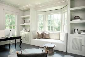 built in window seat window seat in bay window transitional den library office