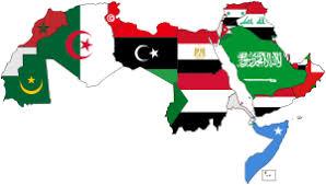 arab countries map list of arab flags