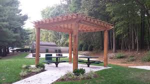 site furnishings including shelters shade benches tables and