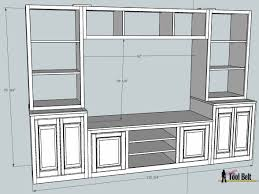 remodelaholic pottery barn media center building plans