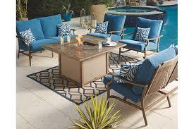 partanna 5 piece outdoor fire pit set ashley furniture homestore