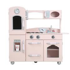 teamson kids kitchen pink play kitchen kiddicare com