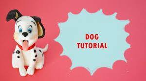 dog cake topper how to make dalmatian dog cake topper fondant tutorial carica