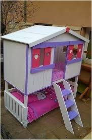 Pallet Bunk Beds 50 Bed With Playhouse Bespoke Quality Playhouse Bed