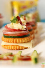 simple vegetarian canapes monaco biscuit canapes how to monaco biscuit toppings